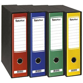 Registrator A4 široki u crnoj kutiji FORoffice crveni