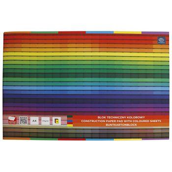 Kolaž  blok A4 10 listova 170g papir u boji Interdruk