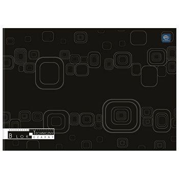 Kolaž  blok A4 10 listova 170g crni papir Interdruk