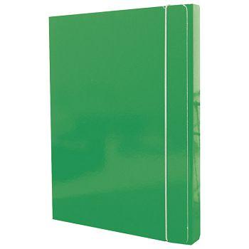 Mapa s gumicom hrbat30mm A4 karton Fornax zelena