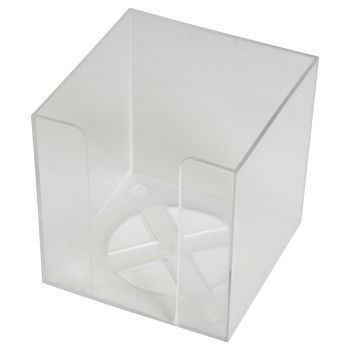 Blok kocka pvc  9,2x9,2x9,5cm  prazna Fornax prozirna