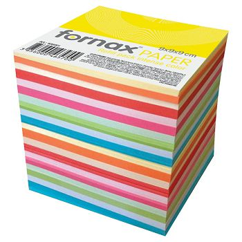 Papir za kocku 9x9x9cm ljepljeni Fornax sortirano