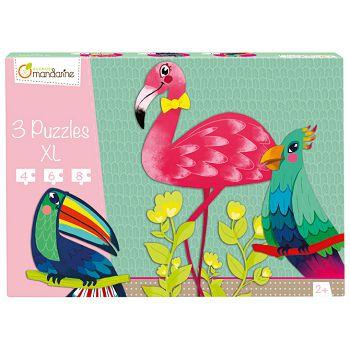 Igračka puzzle XL3 komadatropske ptice Avenue Mandarine Clairefontaine PU011O