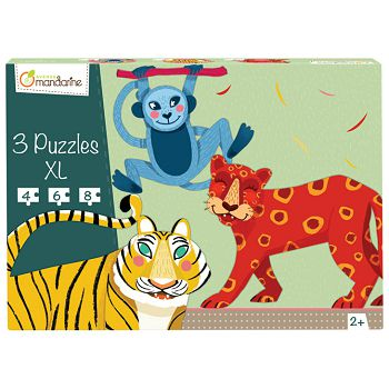 Igračka puzzle XL3 komadaživotinje iz džungle Avenue Mandarine Clairefontaine PU012O
