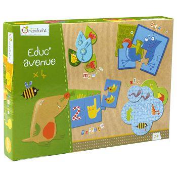 Igračka set od 4 edukativne igrevrt Avenue Mandarine Clairefontaine 42810O