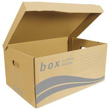 Kutija arhivskakontejner za arhivske kutije Fornax smeđa