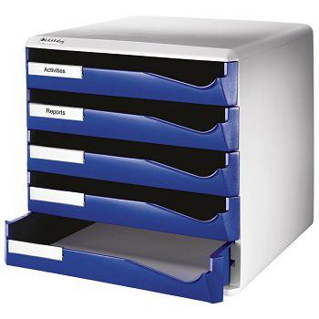 Kutija s  5 ladica Post set Leitz 52800035 plava