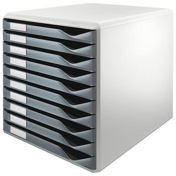 Kutija s 10 ladica Form set Leitz 52810089 siva