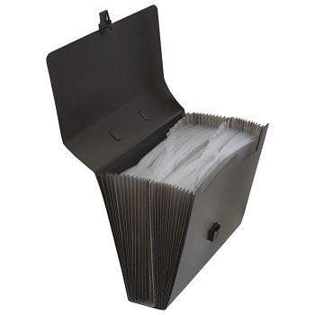 Torba za kućni budžet 26 pregrada s kopčom pp Donau 8558001PL01 crna