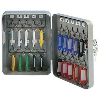 Ormarić za ključeveza  20 kom Donau 5241001PL99 sivi