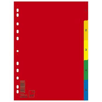 Pregrada plastična A4 brojevi 1 5 kolor Donau 7708095PL99