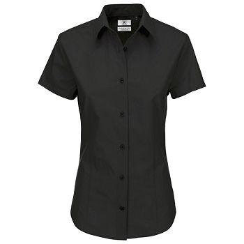 Košulja ženska kratki rukavi BC Heritage 125g crna XL