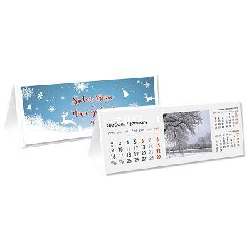 Kalendar stolni maličestitka s kuvertom