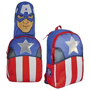 Ruksak školski s kapuljačom Captain America Cerda 2100000838