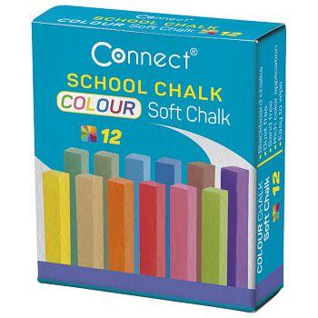 Kreda školska četvrtasta soft 12boja Connect