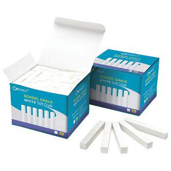 Kreda školska četvrtasta soft pk72 Connect bijela