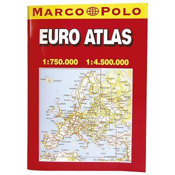 Auto karta Europeeuro atlas A4 knjiga Trsat