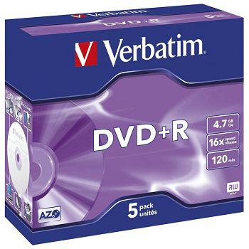 DVDR 4,7GB120min 16x JC Mat Silver Verbatim 43497