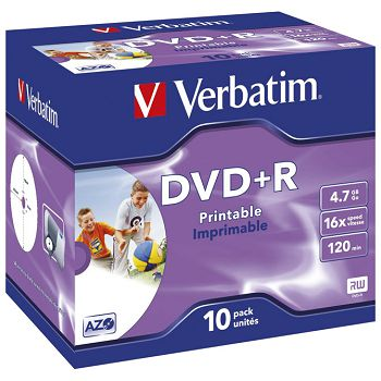 DVDR 4,7120 16x JC printable Verbatim 43508