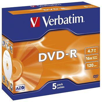 DVDR 4,7120 16x JC Mat Silver Verbatim 43519