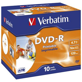 DVDR 4,7120 16x JC printable Verbatim 43521