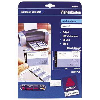 Papir Ink Jet A4 za vizitke 260g pk25 Zweckform C3201525