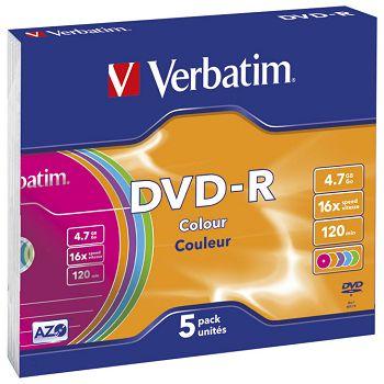 DVDR 4,7120 16x slim pk5 Verbatim 43557 sortirano