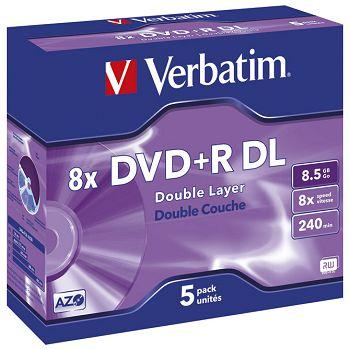 DVDR DL 8,5240 8x JC Mat Silver Verbatim 43541