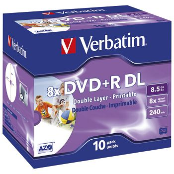 DVDR DL 8,5240 8x JC printable Verbatim 43665