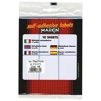 Etikete slep  73x37mm pk10L Markin 10048 blister