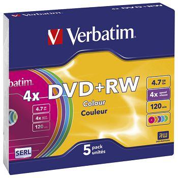 DVDRW 4,7120 4x slim pk5 Verbatim 43297 sortirano