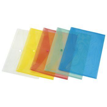 Kuverte s gumbom A4 pp Donau 8544001PL10 prozirne plave