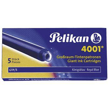 Tinta za nalivpero patrone duge pk5 Pelikan 4001 plava