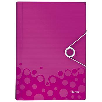 Mapa za kućni budžet  6 pregrada s gumicom pp Wow Leitz 45890023 roza