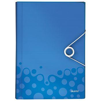 Mapa za kućni budžet  6 pregrada s gumicom pp Wow Leitz 45890036 plava