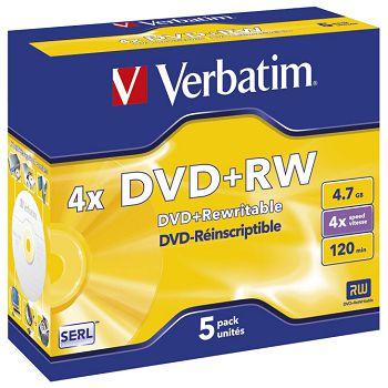 DVDRW 4,7120 4x JC Mat Silver Verbatim 43229