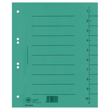 Pregrada kartonska A4 250g Donau 861000106 zelena