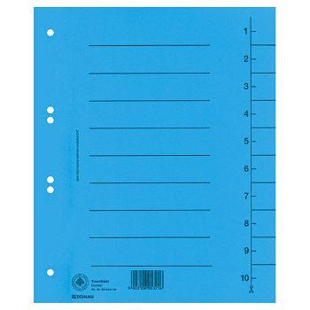 Pregrada kartonska A4 250g Donau 861000110 plava
