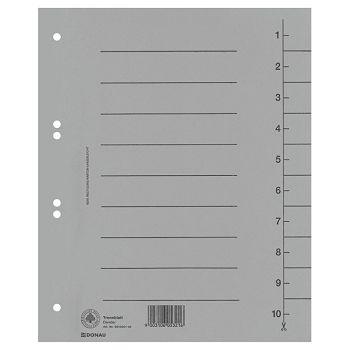 Pregrada kartonska A4 250g Donau 861000113 siva