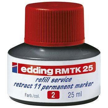 Tinta za marker permanentni 25ml Edding MTK25 crvena