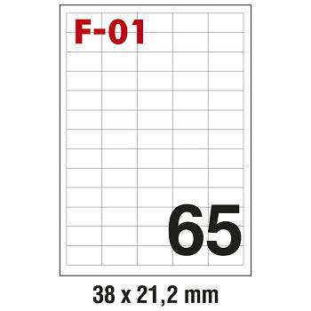 Etikete ILK  38x21,2mm pk100L Fornax F01
