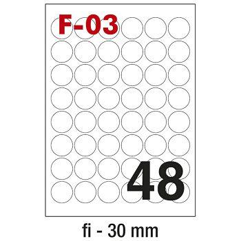 Etikete ILK fi30mm pk100L Fornax F03