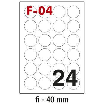 Etikete ILK fi40mm pk100L Fornax F04