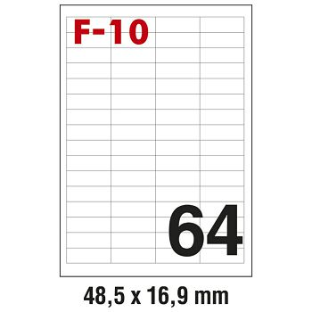 Etikete ILK  48,5x16,9mm pk100L Fornax F10