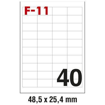 Etikete ILK  48,5x25,4mm pk100L Fornax F11