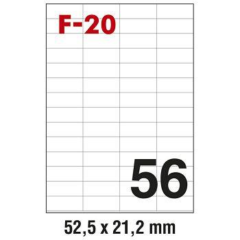 Etikete ILK  52,5x21,2mm pk100L Fornax F20