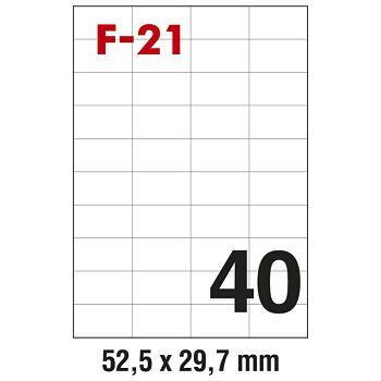 Etikete ILK  52,5x29,7mm pk100L Fornax F21