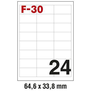 Etikete ILK  64,6x33,8mm pk100L Fornax F30