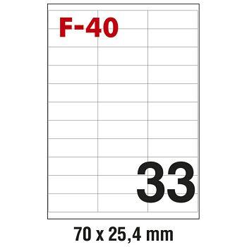 Etikete ILK  70x25,4mm pk100L Fornax F40