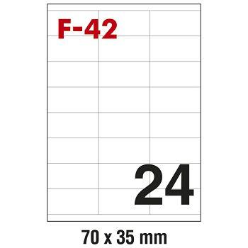 Etikete ILK  70x35mm pk100L Fornax F42